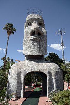 Easter Island Course, Hole 16 (Stone Face), Tucson, AZ (now located at The Hut on 4th ave)
