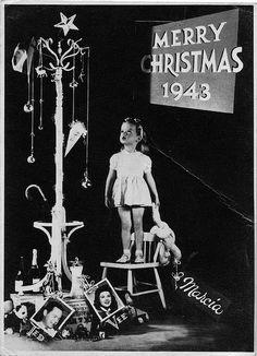 1943 Sears Christmas card:: Vintage Holidays:: Retro Christmas