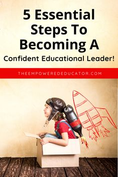 5 steps to becoming a confident ed leader - a great resourcce for all early learning educators who want to be a more confident leader. Leadership Roles, Educational Leadership, Educational Technology, Always Learning, Early Learning, Fun Learning, Planning Cycle, Family Day Care, Teacher Hacks