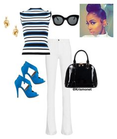 """sleek stripes"" by krismonet on Polyvore featuring Frame Denim, Dolce&Gabbana, Michael Antonio, CÉLINE, Relaxfeel, Balenciaga, classic, stripes, polyvorecommunity and SLEEK"