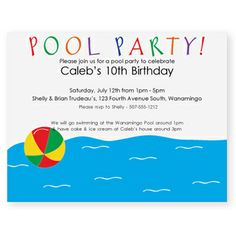Free Party Invitation Templates | click to enlarge