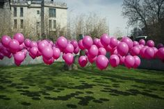 Use golf tees to pin balloons to the ground.