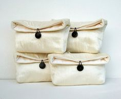 Silk Bridesmaid Clutch Purses Personalized by EdensWake on Etsy, $20.00
