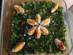 yeşillikli patates salatası