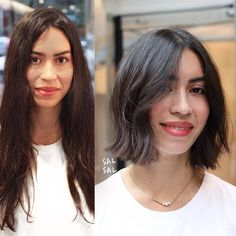 MAKEOVER TIME🌟 #salsalhair #hairbysal #makeover #beforeandafter #chop #modernbob #bob #hair #hairstyle