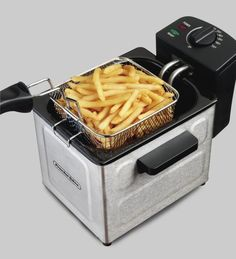 Proctor Silex Professional Deep Fryer Stainless Steel 35041 Silver - Compact Air Fryer - Ideas of Compact Air Fryer - Proctor Silex Professional Deep Fryer Stainless Steel (Silver) 35041 Best Appliances, Specialty Appliances, Electronic Appliances, Best Air Fryer Review, Air Fryer Deals, Electric Deep Fryer, Best Air Fryers, Spicy Recipes, Healthy Recipes