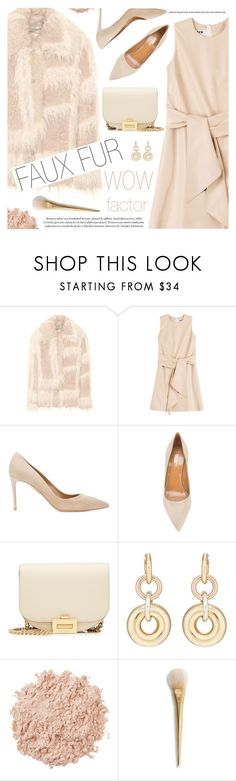 """""""Wow Factor: Faux Fur"""" by pokadoll ❤ liked on Polyvore featuring Helmut Lang, MSGM, Aquazzura, Victoria Beckham, SPINELLI KILCOLLIN, La Mer, fauxfur, polyvoreeditorial and polyvoreset"""