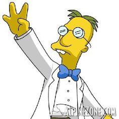 """Ce savant fou qui nous vient de la série """"Les Simpson"""" est le professeur Frink, il est connu pour ses inventions folle et pour son tallent de scientifique. Pergaud Jean-François"""