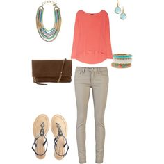 Spring is coming, cute outfit paired with Stella & Dot Jewelry!, created by sacarpy on Polyvore