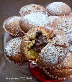 Muffin cuor di nutella senza glutine