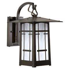"America's Finest Lighting Company Cobblestone 1 Light Outdoor Wall Lantern Shade Finish: Champagne, Finish: New Verde, Size: 11.25"" H x 6.5"" W x 9"" D"