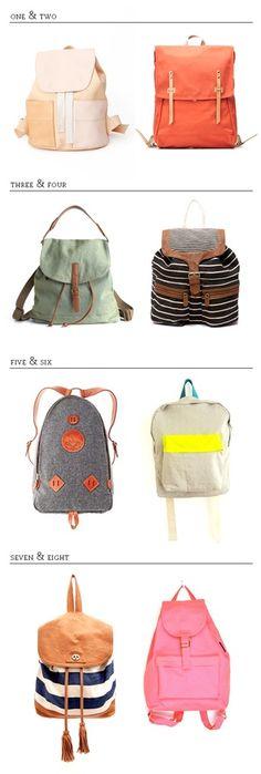 Backpack. Gotta keep your stuff somewhere!