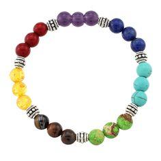 2017 New Natural Stone 7 Reiki Chakra Healing Balance Beads Bracelet for Men Women Stretch Yoga Jewelry Fashion Accessories #Affiliate