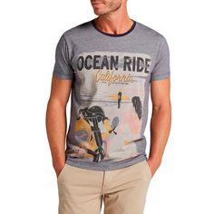 T-Shirt uomo Wrangler Ocean Ride Medieval Blue