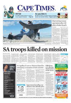 News making headlines:  SA troops killed on mission