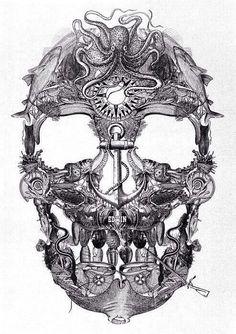 Nautical skull