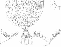 Bogyó és Babóca a léggömbben, coloring page, színező Colouring Pages, Coloring, Minden, My Teacher, My Job, B & B, Worksheets, Diy And Crafts, Clip Art