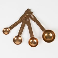 Copper Measuring Spoons Set of 4 | Gifts £5 - £10 | Sass & Belle