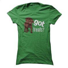 Got Treats? Chocolate Lab Full Body - teeshirt dress #tee ball #boho tee
