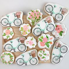 "860 Likes, 38 Comments - Biscoitos Decorados (@divertidamente) on Instagram: "" para @alegrapartydesign #floral #aquarela #watercolor #flowerwatercolor #handpaintedcookies…"""