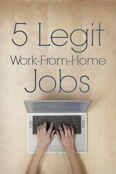 5 LEGIT work from home jobs - some great #job ideas here!  - http://christianpf.com/legitimate-work-from-home-jobs/