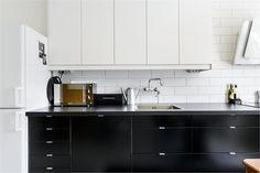 Cozinha preto e branca