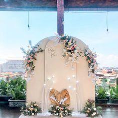 Engagement Decorations, Surabaya, Backdrops, Sky, Wreaths, Blue, Beautiful, Instagram, Home Decor