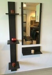 Awesome ideas for decorating the hallway with modern wall mirror designs, home interior wall mirror decor ideas for modern style apartments 2019 Home Decor Hooks, Home Wall Decor, Home Decor Accessories, Living Room Decor, Diy Home Decor, Wall Dressing Table, Dressing Table Design, Dressing Area, Hallway Decorating