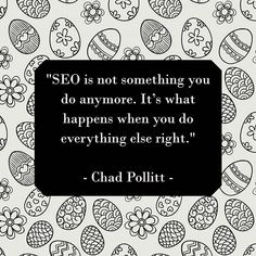 """Digital Marketing Quote of the day:⠀ ⠀ """"SEO is not something you do anymore. It's what happens when you do everything else right.""""⠀ - Chad Pollitt -⠀ ⠀ ⠀ #seo #content #contentmarketing #contentstrategy #writers #blogging#bloggers #blog #blogtopic #blogtips #blogdesign #bloggingtools#wordpress #contentmarketingtips #visualcontent #infographic #infographics #interview #photo #photography #design #branding"""