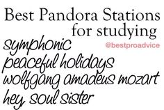 Pandora stations for studying