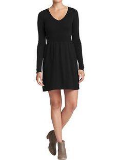 Women's Rib-Knit Sweater Dress (Black Jack). Old Navy. $39.94