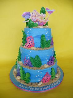 Barbie the Mermaid Birthday Cake by CakesUniqueByAmy.com, via Flickr