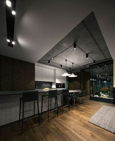Desert Loft in Kiew von YoDezeen - Dekoration Haus Interior Design And Build, Interior Design Kitchen, Interior Decorating, Loft Design, House Design, Loft Interiors, Small Loft, Luxury Kitchens, Living Room Kitchen
