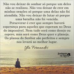 Yla Fernandes - não vou deixar de sonhar....