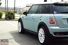 With its adorable minty blue paint, this fresh Mini Cooper S packs a punch you& never see coming. Lamborghini, Ferrari, My Dream Car, Dream Cars, Subaru, Blue Mini Cooper, Pink Mini Coopers, Nissan, Volkswagen