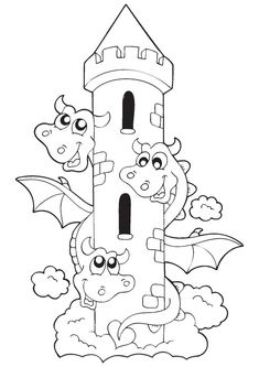 Free Printable Dragon Coloring Pages for Kids - Art Hearty Coloring Sheets For Kids, Cute Coloring Pages, Animal Coloring Pages, Free Printable Coloring Pages, Colouring Pages For Kids, Coloring Books, Dinosaur Coloring Pages, Funny Dragon, Dragon Coloring Page