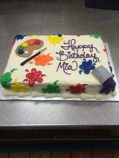 1 4 sheet paint ball splatter cake cakes drawings for Cake craft beavercreek ohio