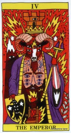 IV. The Emperor - Tarot del Fuego by Ricardo Cavolo