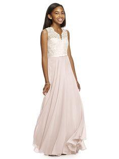 Dessy Collection Junior Bridesmaid JR532 (shown in blush)