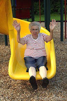 Older women fun joy