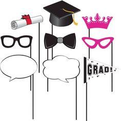 Graduation Photo Props, 10pk, Assorted