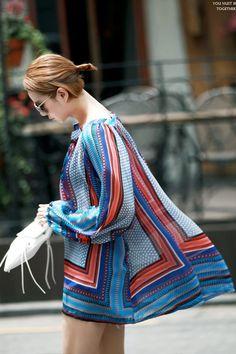 Bohemian patterned Blouse  summer blouse 딘트 dint