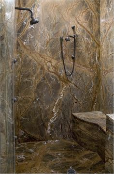 Magnificent Modern Shower Tiles of Vibrant Look: Awesome Natural Stone Craked Shower Tiles Design Black Head Shower ~ pofidik.com Bathroom Designs Inspiration