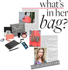 """What's in her bag?"" by pearlsandstars ❤ liked on Polyvore"