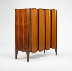 Osvaldo Borsani, Cabinet, ca 1955. #midcentury #modern #vintage #retro #furniture #cabinet #storage