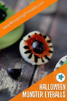 Halloween Monster Eyeballs! They're creepy. They're yummy. And most important: they're so easy to make! If you are looking for a fun Halloween snack or appetizer, these Monster Eyeballs are just the thing. Get the recipe now! #Halloween #HalloweenIdeas #HalloweenRecipe #Monster #Eyeballs Halloween Snacks, Halloween Fun, Hosting Thanksgiving, Lds Primary, Recipe Please, Deviled Eggs, Party Printables, Creepy, Saints