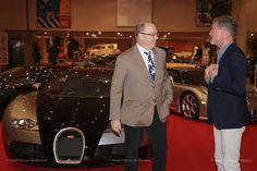 Prince Albert, David Coulthard & Bugatti