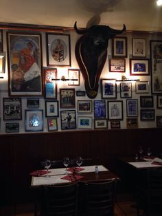 Restaurante La Consentida in Madrid; It is family owned and operated and I read somewhere that it is the best place to get authentic Madrileno food like rabo del toro (oxtail)