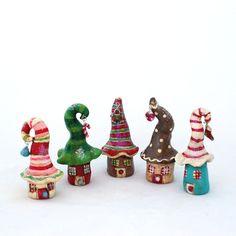 Cute little clay houses