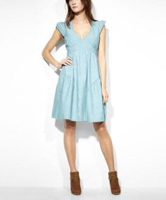 Levi's Sweetheart Summer Dress - Spring Blue - Dresses & Skirts $78.00